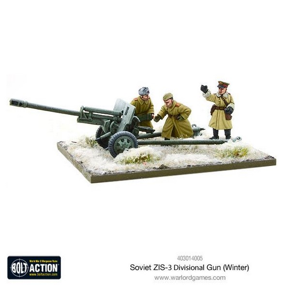 Bolt Action: Soviet ZIS-3 divisional gun (Winter)
